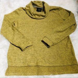 W5 chartreuse turtleneck sweatshirt top